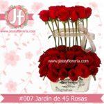 Jardín de 45 rosas florerias en guadalajara con servicio a domicilio, zapopan, tlaquepaque, tonala, tlajomulco