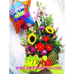 Canasta frutal florerias en guadalajara con servicio a domicilio, zapopan, tlaquepaque, tonala, tlajomulco