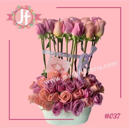 Jardín de 45 rosas rositas