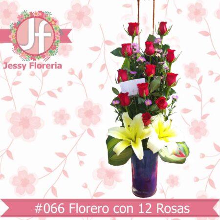 Diseño con docena de rosas florerias en guadalajara con servicio a domicilio, zapopan, tlaquepaque, tonala, tlajomulco