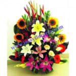Arreglo floral jardinera surtida florerias en guadalajara con servicio a domicilio, zapopan, tlaquepaque, tonala, tlajomulco