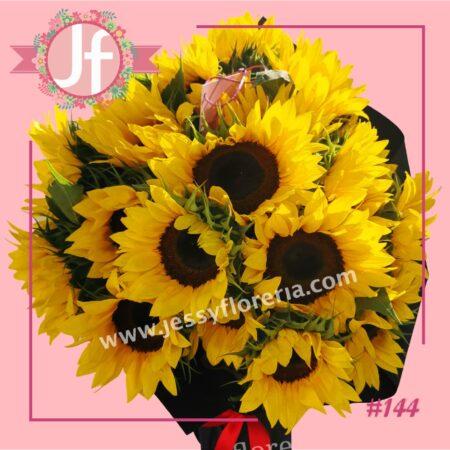 144-Bouquet de 20 girasoles