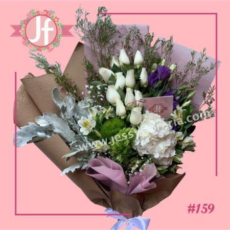 159-Ramo de rosas y flor fina