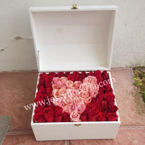 Cofre corazón de rosas florerias en guadalajara con servicio a domicilio, zapopan, tlaquepaque, tonala, tlajomulco