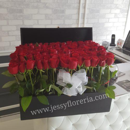 Cofre de 120 rosas florerias en guadalajara con servicio a domicilio, zapopan, tlaquepaque, tonala, tlajomulco