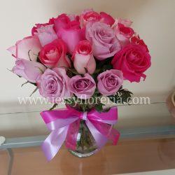 Florero de 24 rosas rositas florerias en guadalajara con servicio a domicilio, zapopan, tlaquepaque, tonala, tlajomulco