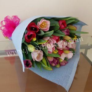 Ramo de 50 tulipanes florerias en guadalajara con servicio a domicilio, zapopan, tlaquepaque, tonala, tlajomulco