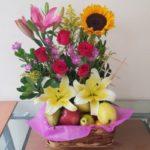 Canasta de frutas y flores florerias en guadalajara con servicio a domicilio, zapopan, tlaquepaque, tonala, tlajomulco