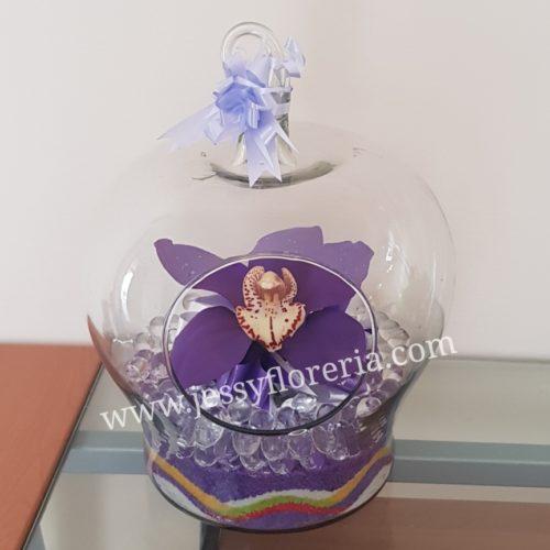 Orquídea en cristal florerias en guadalajara con servicio a domicilio, zapopan, tlaquepaque, tonala, tlajomulco