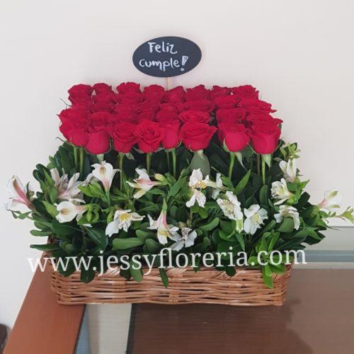 Jardinera de rosas florerias en guadalajara con servicio a domicilio, zapopan, tlaquepaque, tonala, tlajomulco