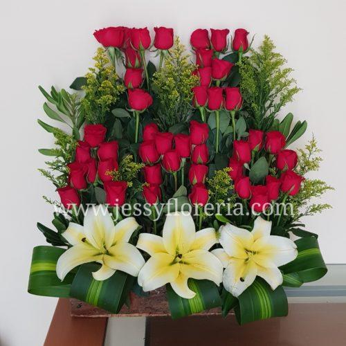 Jardín de rosas Te amo florerias en guadalajara con servicio a domicilio, zapopan, tlaquepaque, tonala, tlajomulco