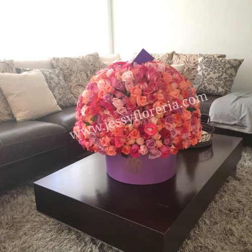 Esfera de 300 rosas rositas florerias en guadalajara con servicio a domicilio, zapopan, tlaquepaque, tonala, tlajomulco