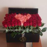 Cofre con corazón de 120 rosas florerias en guadalajara con servicio a domicilio, zapopan, tlaquepaque, tonala, tlajomulco