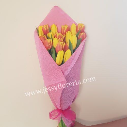 Ramo de 20 tulipanes florerias en guadalajara con servicio a domicilio, zapopan, tlaquepaque, tonala, tlajomulco