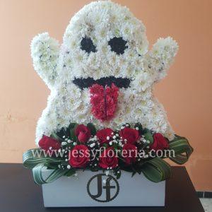 Escultura fantasma de flores florerias en guadalajara con servicio a domicilio, zapopan, tlaquepaque, tonala, tlajomulco