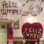 Paquete corazón con globos florerias en guadalajara con servicio a domicilio, zapopan, tlaquepaque, tonala, tlajomulco