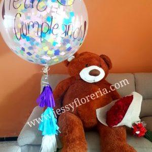 florerias en guadalajara con servicio a domicilio, zapopan, tlaquepaque, tonala, tlajomulco Paquete ramo, globo y peluche