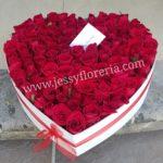 Caja corazón de rosas florerias en guadalajara con servicio a domicilio, zapopan, tlaquepaque, tonala, tlajomulco