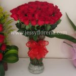 Florero con 50 rosas rojas florerias en guadalajara con servicio a domicilio, zapopan, tlaquepaque, tonala, tlajomulco