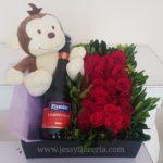 Flores con botella florerias en guadalajara con servicio a domicilio, zapopan, tlaquepaque, tonala, tlajomulco