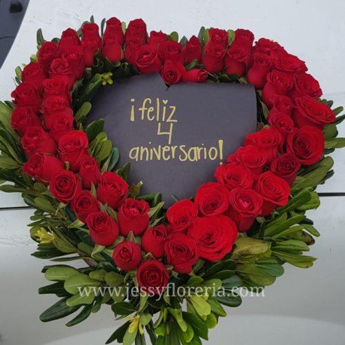 Corazón de 50 rosas florerias en guadalajara con servicio a domicilio, zapopan, tlaquepaque, tonala, tlajomulco