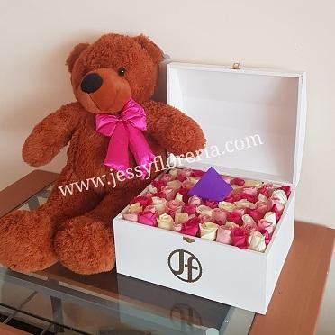 Cofre de rosas rositas florerias en guadalajara con servicio a domicilio, zapopan, tlaquepaque, tonala, tlajomulco
