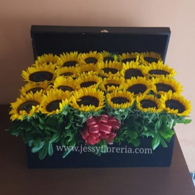 Cofre de girasoles ¿Como cuidar los arreglos florales?