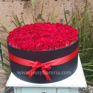 Caja redonda de Rosas (120)