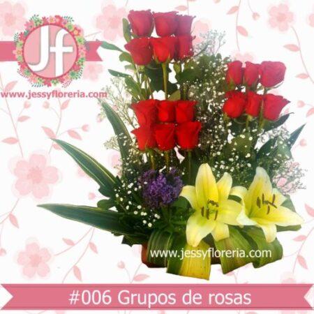 Diseño de rosas rojas