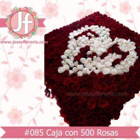 Caja de 800 rosas