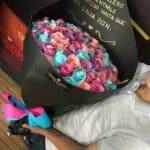 100 rosas colores pastel