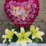 Corazón de rosas degradado