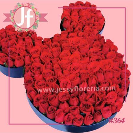 364-Caja Mickey de rosas