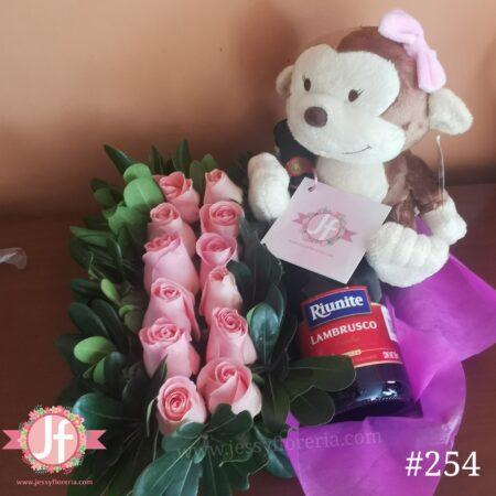 254 Caja 12 rosas Lambrusco y Mika