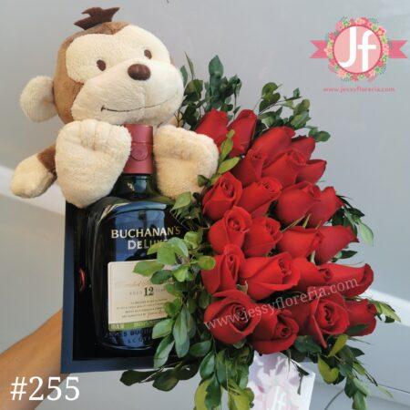 255 Caja 24 rosas Buchanan´s Miko