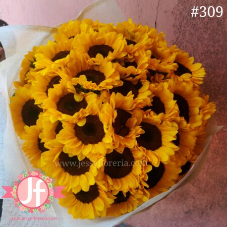 309 Bouquet 50 girasoles