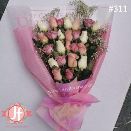 311 24 Rosas rositas decoradas