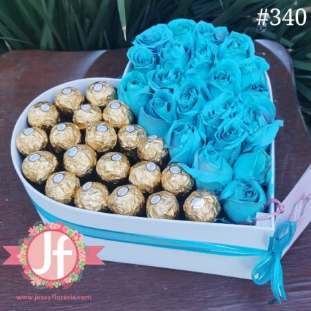 340-corazon-de-25-rosas-azules-y-20-ferreros