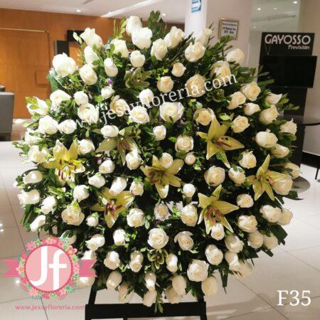 F35 Corona tripie 100 rosas y lilis