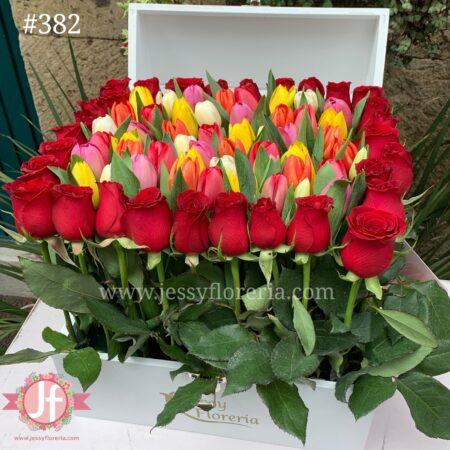 382-cofre-60-tulipanes-y-rosas