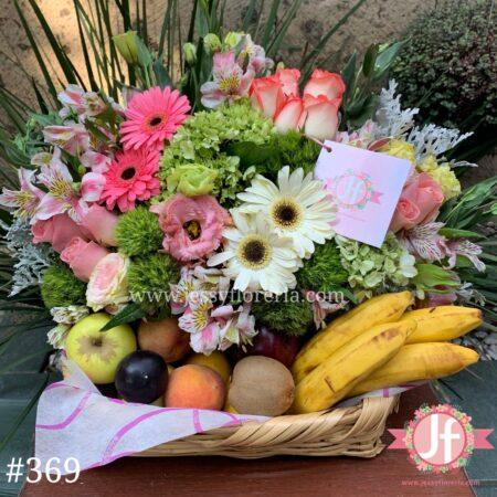 369 Canasta frutal vintage chica