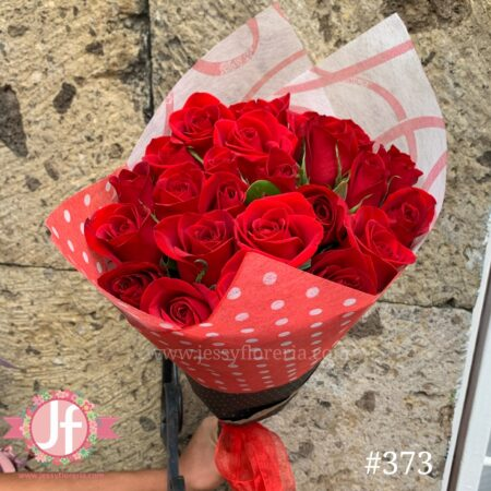 373-Bouquet 24 rosas rojas