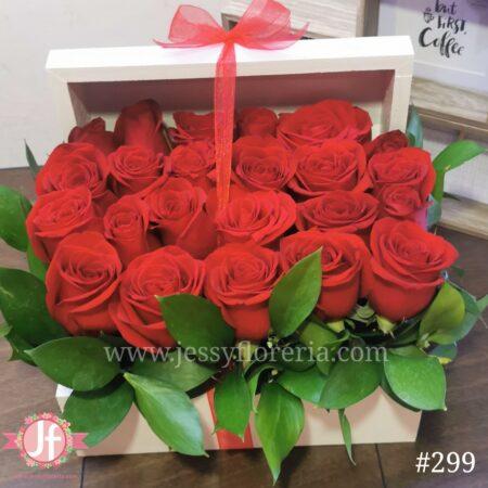 Cofre de 24 rosas rojas