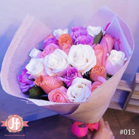 24 Rosas tonos rosas