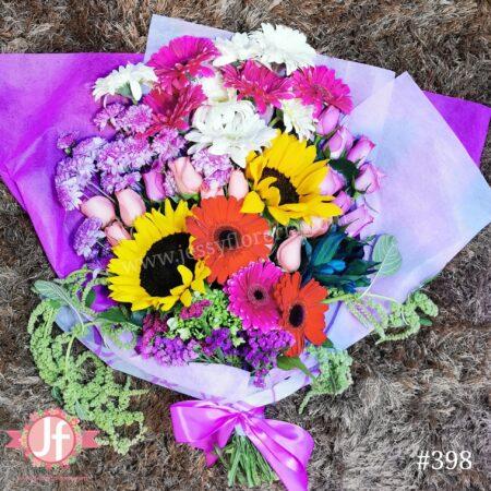 398-Bouquet surtido rosa
