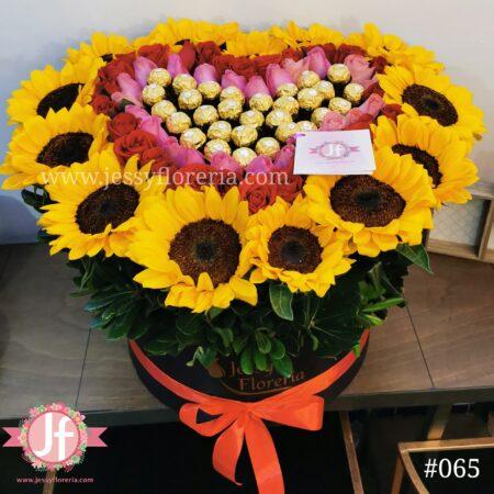 065-caja-girasoles-rosas-y-ferreros