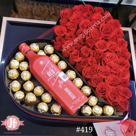 419 Corazon 50 rosas, Red Label y Ferreros