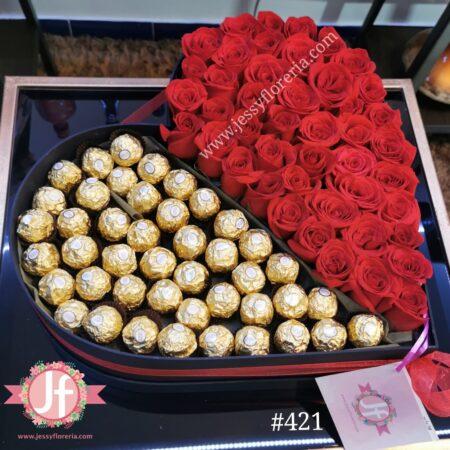 421 Corazon 50 rosas y45 Ferreros