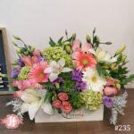 235 Caja vintage con orquídea