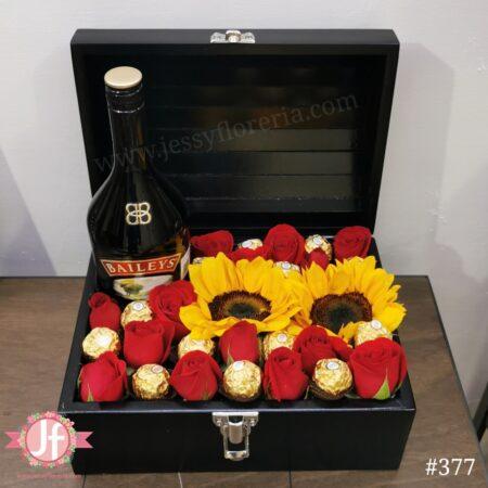 377-cofre-baileys-girasoles-rosas-y-ferreros